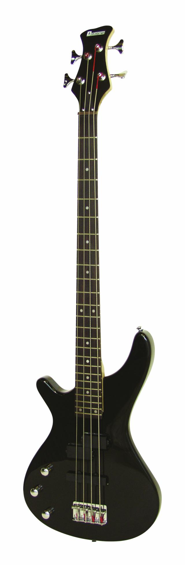 Dimavery SB-321 elektrická baskytara pro leváky, černá