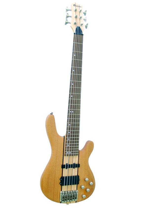 Dimavery SB-660 elektrická baskytara šestistrunná, ořech
