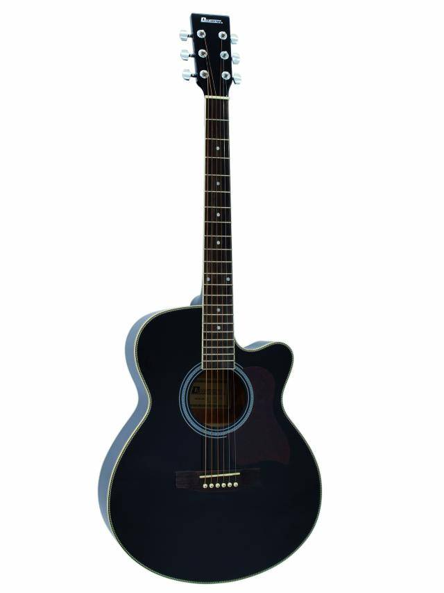 Fotografie Dimavery JK-300 Cutaway kytara, černá