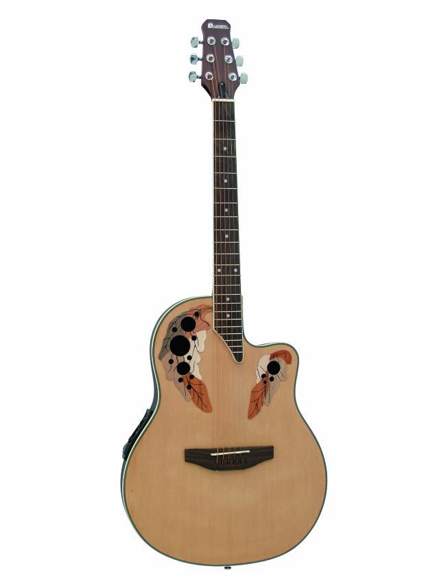 Dimavery OV-500 elektro-akustická kytara Ovation, přírodní