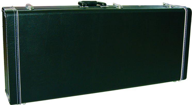 Dimavery dřevěný kufr rohový pro elektrickou kytaru, černý