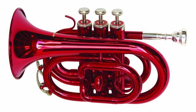 Dimavery TP-300 B trubka kapesní, červená
