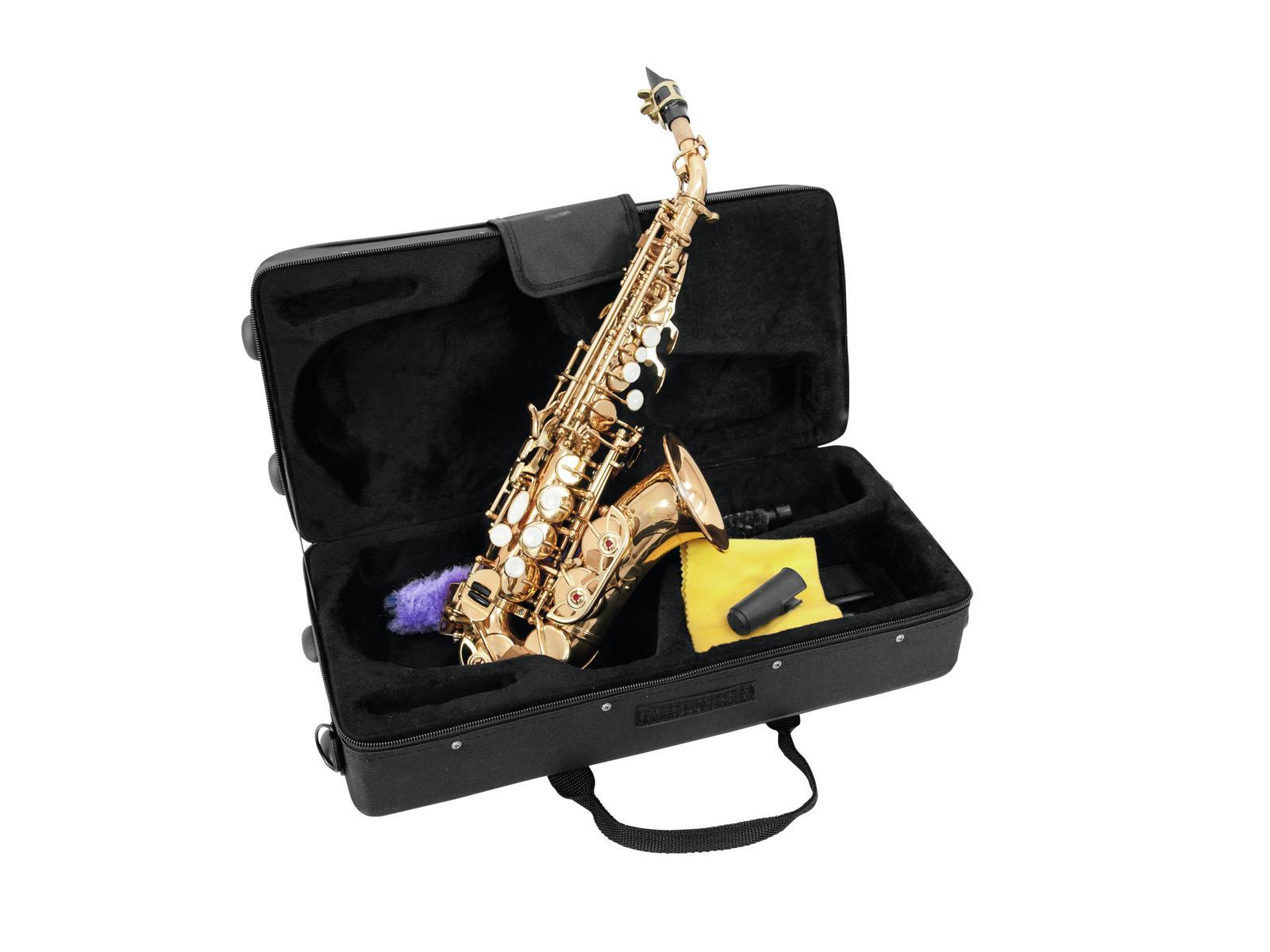 Dimavery SP-20 B Sopran saxofon, zahnutý