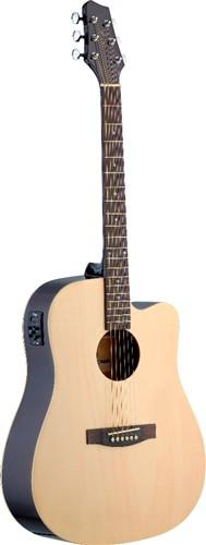 Stagg SA30DCE-N, elektro-akustická kytara, přírodní