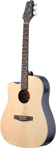 Stagg SA30DCE-N LH, elektro-akustická kytara, přírodní