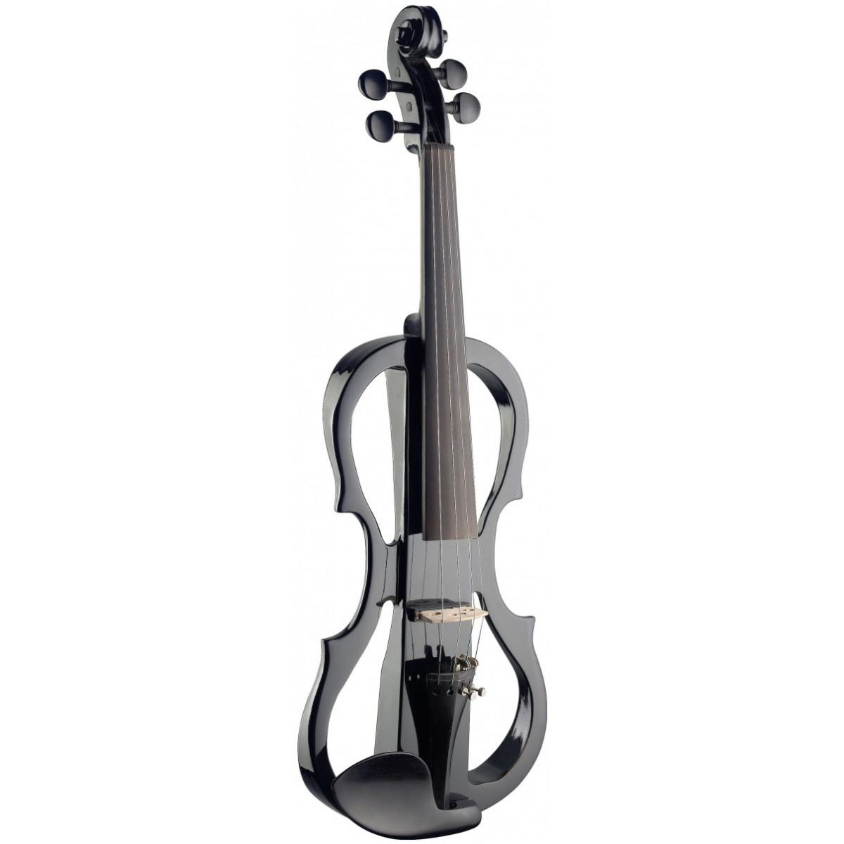Stagg EVN X-4/4 BK, elektrické housle, černá