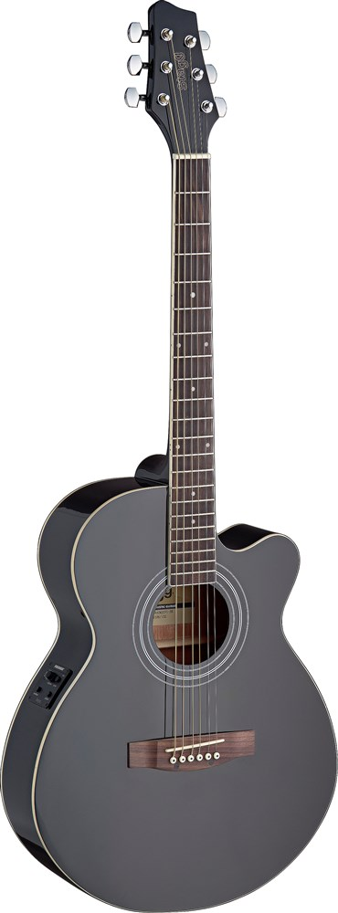 Stagg SA40MJCFI-BK, elektro-akustická kytara