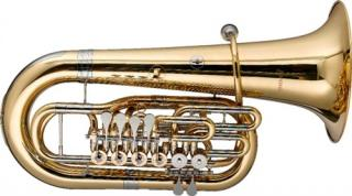 Levante LV-BT5805 F Tuba, 6 rotary valves, w/soft case on wheels